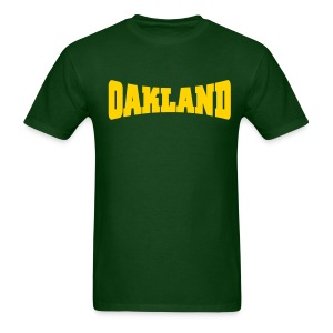 Men Oakland (Yellow) - Men's T-Shirt