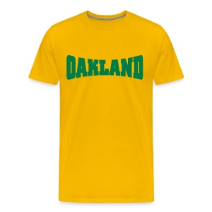 Men Oakland (Green) - Men's Premium T-Shirt