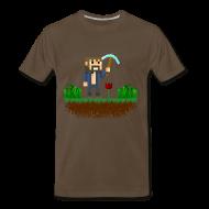 T-Shirts ~ Men's Premium T-Shirt ~ Mine Blocks Scene