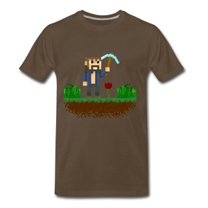 Mine Blocks Scene - Men's Premium T-Shirt