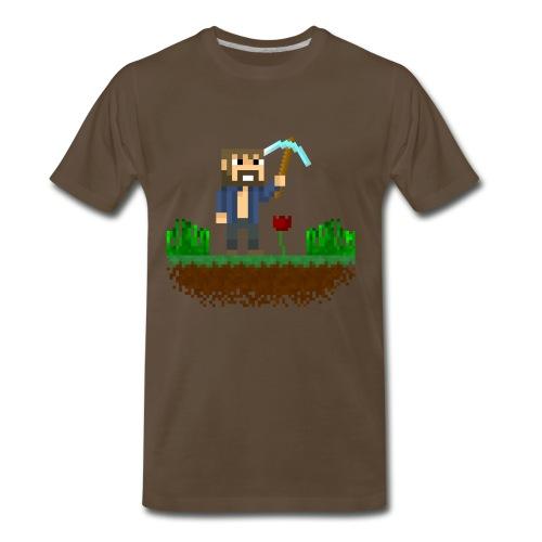 Mine Blocks Scene - Men's Premium T-Shirt