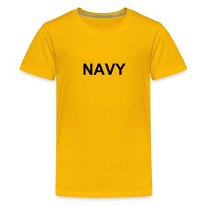 Kids Military Shirts NAVY Logo T-Shirt Yellow - Kids' Premium T-Shirt