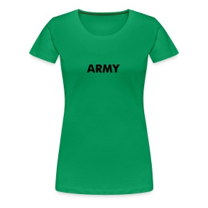 Womens Military T-Shirts ARMY Green Babydoll Tee - Women's Premium T-Shirt