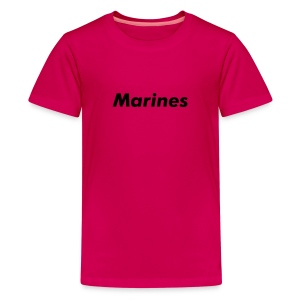 Kids Military Logo Shirts MARINES PINK - Kids' Premium T-Shirt