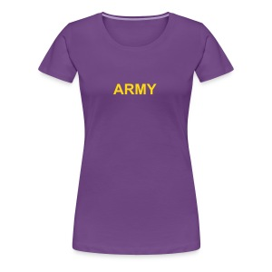 Womens Military T-Shirts ARMY Purple Babydoll Tee - Women's Premium T-Shirt