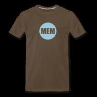 T-Shirts ~ Men's Premium T-Shirt ~ Men's Blue Circle Logo Heavy Weight T-Shirt
