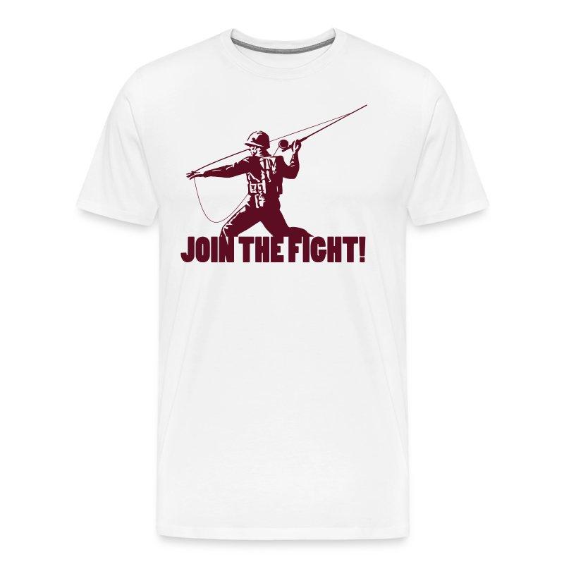 Fly fishing propaganda tee t shirt spreadshirt for Fly fishing hoodie