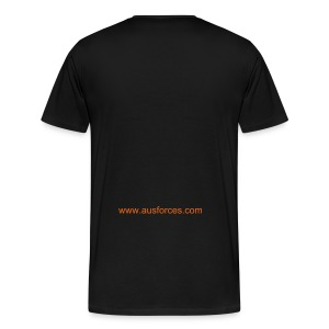 AUF Logo - Heavyweight T-Shirt - GOLD - Digital Print - Men's Premium T-Shirt