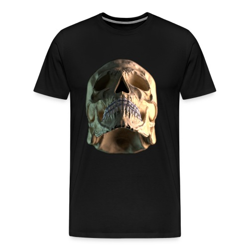 skull braces - low - Men's Premium T-Shirt