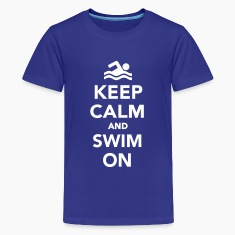 Keep calm and swim on Kids' Shirts