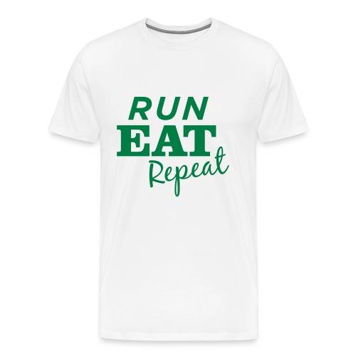 Run Eat Repeat tee male - Men's Premium T-Shirt