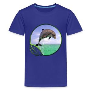 Green Life Series - Dolphin - Kids' Premium T-Shirt