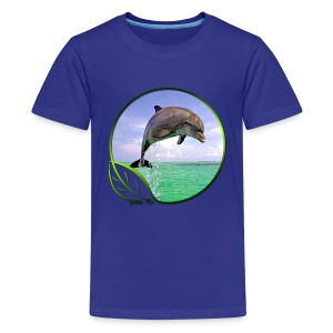 Green Life Series - Dolphin - Kids' Premium T-Shirt