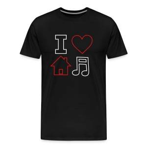 I Love House Music - Men's Premium T-Shirt