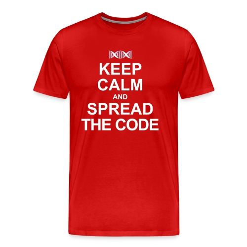 Spread the code (male, heavy weight) - Men's Premium T-Shirt