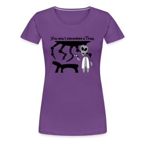 Alien Scientist (female, heavy) - Women's Premium T-Shirt