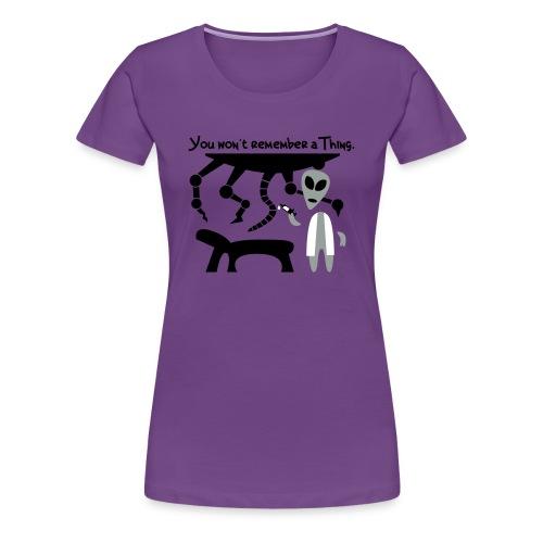 Alien Scientist (female, heavy) - Women's Premium T-Shirt