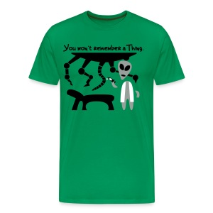 Alien Scientist (male, heavy) - Men's Premium T-Shirt