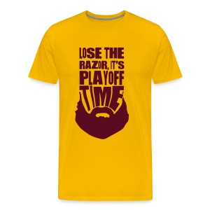 Lose The Razor It's Playoff Beard Time T-Shirt - Men's Premium T-Shirt