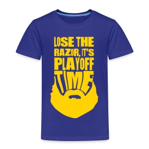Lose The Razor It's Playoff Beard Time T-Shirt - Toddler Premium T-Shirt
