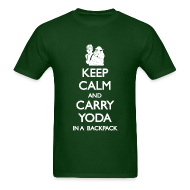 T-Shirts ~ Men's T-Shirt ~ Keep Calm and Carry Yoda Mens