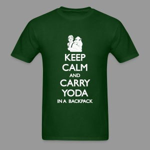 Keep Calm and Carry Yoda Mens - Men's T-Shirt