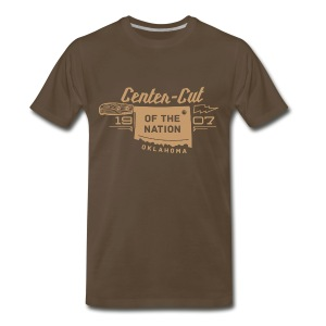 Center-Cut - Tan - Men's Premium T-Shirt