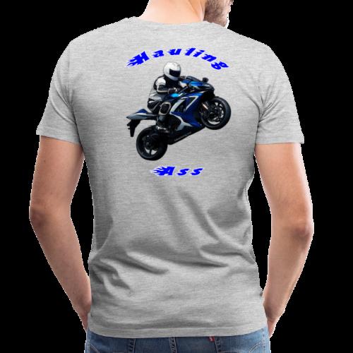 Men's Premium T SportBlue Hauling Ass (Back) - Men's Premium T-Shirt