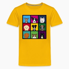 9 dogs Kids' Shirts