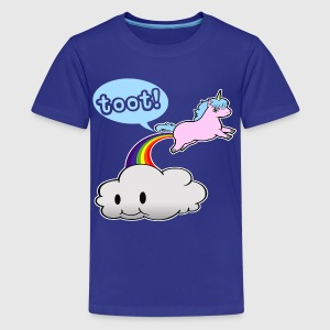 Cute Unicorn Fart - Kids' Premium T-Shirt