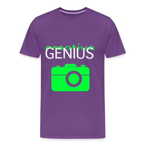 Creative Genius Tee + Camera - Men's Premium T-Shirt