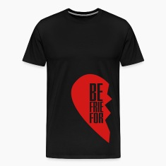 best friends forever left heart side T-Shirts