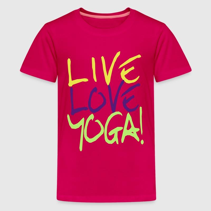 Live love yoga custom yoga shirts t shirt spreadshirt for Be creative or die shirt