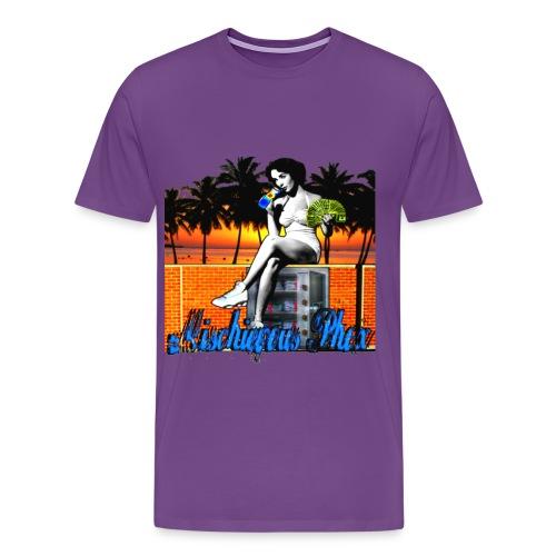 Men's Mischievous Sunsets Cold Drinks & Hard Cash HW Tee - Men's Premium T-Shirt