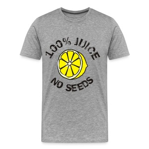 100% Juice, No seeds - Men's Premium T-Shirt