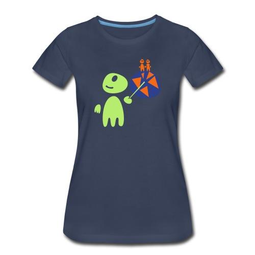 Earthlings101 (female, heavy) - Women's Premium T-Shirt