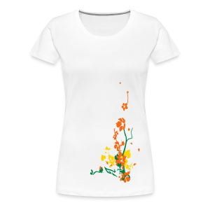 spring has sprung/front and back - Women's Premium T-Shirt
