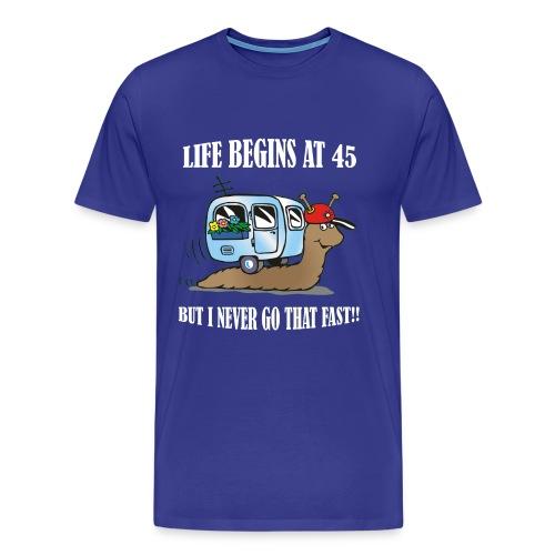 Life begins at 45 - Men's Premium T-Shirt