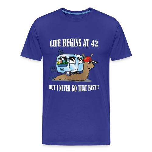 Life begins at 42 - Men's Premium T-Shirt