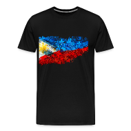 T-Shirts ~ Men's Premium T-Shirt ~ 3XL or 4XL Filipino Flag Shirt