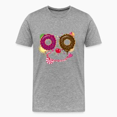 Sweet face with donuts and candy cane T-Shirts