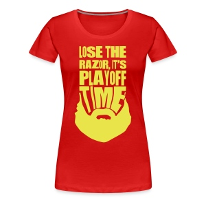 Lose The Razor It's Playoff Beard Time T-Shirt - Women's Premium T-Shirt