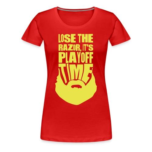 Lose The Razor It's Playoff Beard Time T-Shirt - Women's Premium T-Shirt
