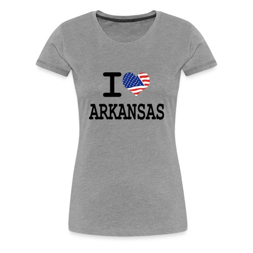 Women's I Love Arkansas T-Shirt - Women's Premium T-Shirt