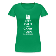T-Shirts ~ Women's Premium T-Shirt ~ Keep Calm and Carry Yoda Ladies