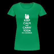 Women's T-Shirts ~ Women's Premium T-Shirt ~ Keep Calm and Carry Yoda Ladies