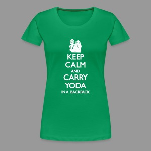 Keep Calm and Carry Yoda Ladies - Women's Premium T-Shirt