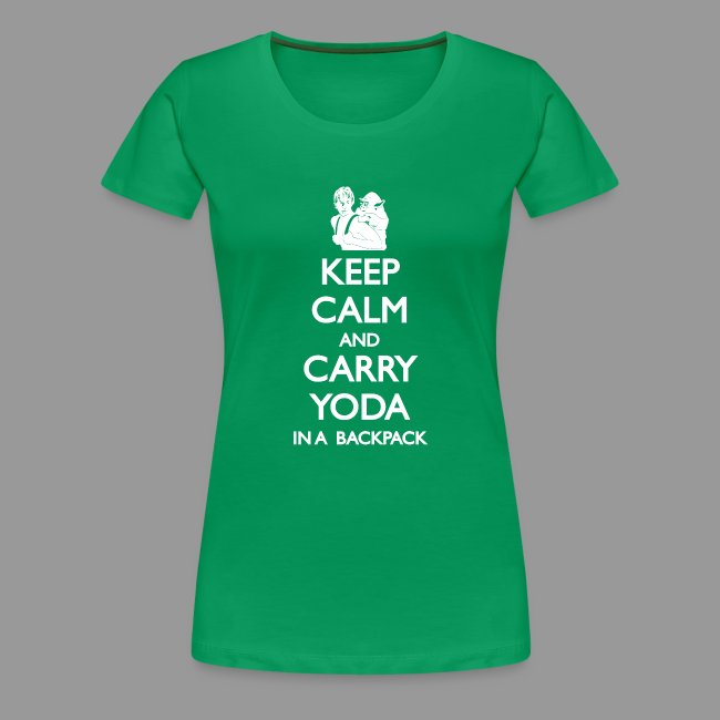 Keep Calm and Carry Yoda Ladies