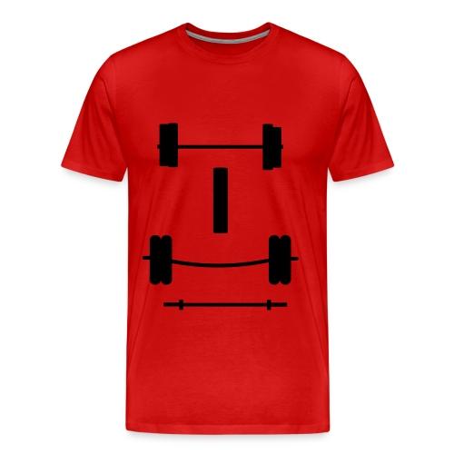Test Barbell - Men's Premium T-Shirt