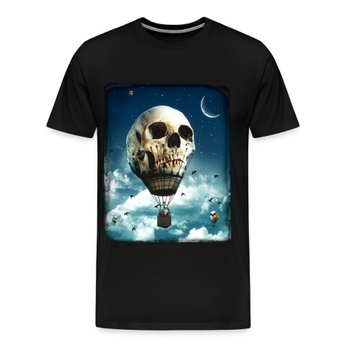 Skull Air Balloon - Men's Premium T-Shirt